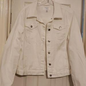 Time and Tru white denim jacket NWOT sz XL